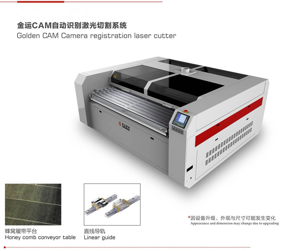 camera registration laser cutter