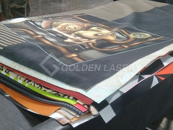 laser cutting dye sublimation printed canvas