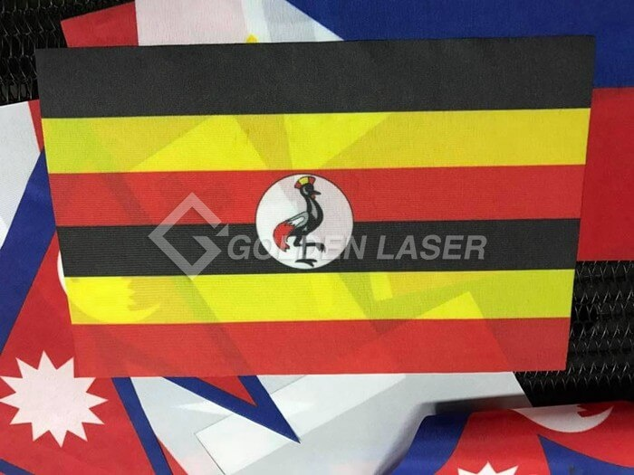 laser cutting flags