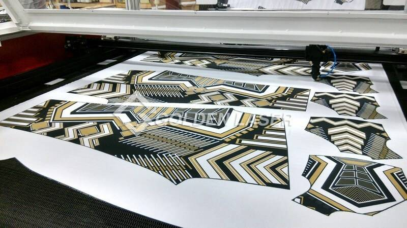 laser cutting sublimation cycling apparel