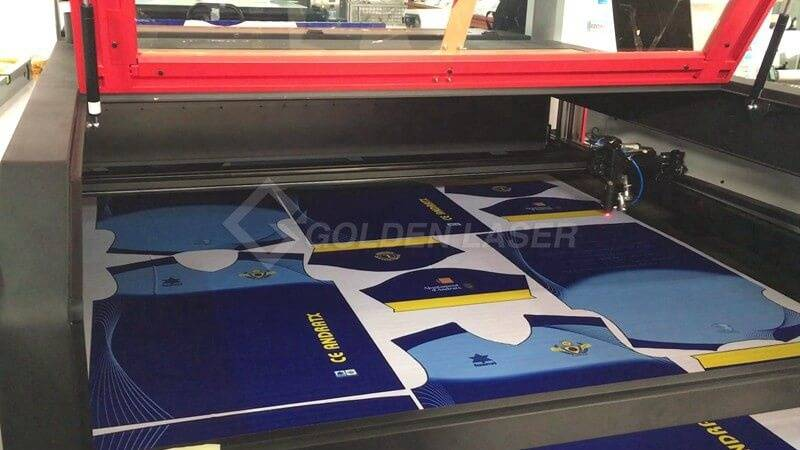 laser cutting sublimation sportswear