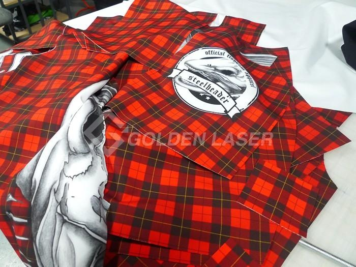 laser cutting sublimation t-shirt