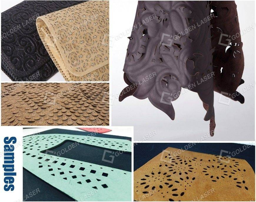 leather laser engraving cutting samples