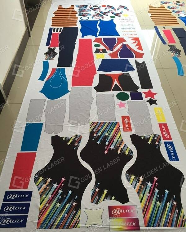 sublimation fabric before cutting